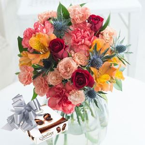 Picture of Coastal Garden with Chocolates and Ribbon