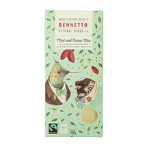 Picture of Bennetto Organic Mint Chocolate 100g (GF,DF,V)