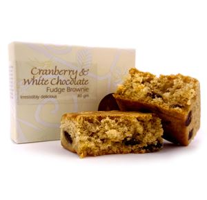 Picture of Cranberry & White Chocolate Brownie 80g