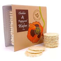 Picture of Cheddar and Poppyseed Wafers 120g