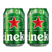 Picture of Two Cans of Heineken 330ml