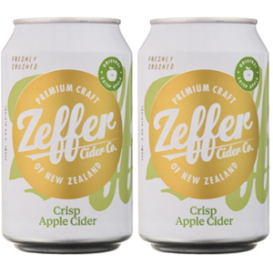 Picture of Two Cans of Zeffer Apple Cider 330ml